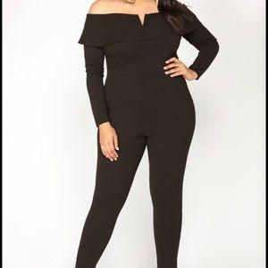Black fashionova jump suit